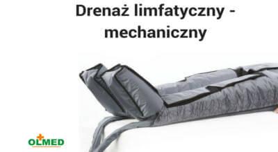 Plakat Drenaż limfatyczny - mechaniczny z logotypem OLMED