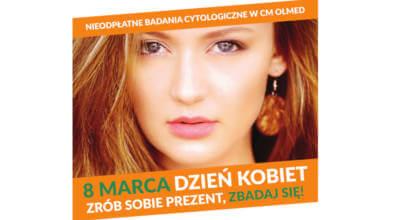zdjęcie kobiety na plakacie o Nieodpłatnych badaniach cytologicznych w OLMED